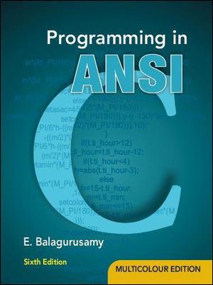 programming in ansi c6e balaguruswamy