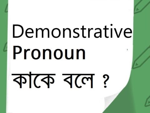Demonstrative Pronoun কাকে বলে