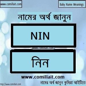 নিন নামের অর্থ কি ,Nin name meaning in Bengali
